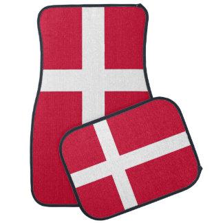 Set Automatten mit Flagge von Dänemark Automatte