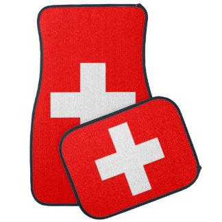 Set Automatten mit Flagge von der Schweiz Autofußmatte