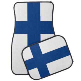 Set Automatten mit Flagge von Finnland Autofußmatte