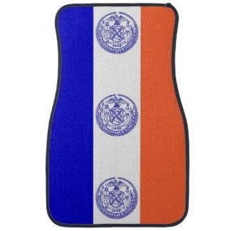 Set Automatten mit Flagge von New York City, USA Autofußmatte
