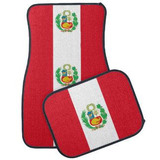 Set Automatten mit Flagge von Peru Automatte