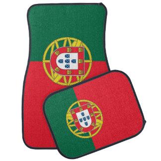 Set Automatten mit Flagge von Portugal Autofußmatte