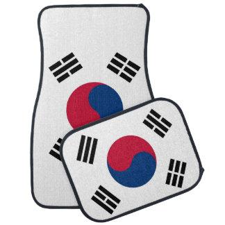 Set Automatten mit Flagge von Südkorea Autofußmatte