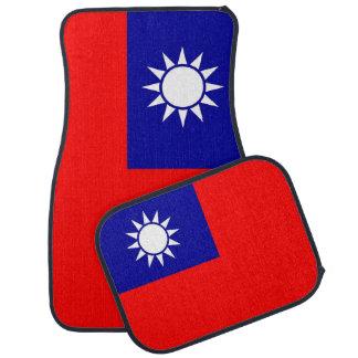 Set Automatten mit Flagge von Taiwan Autofußmatte
