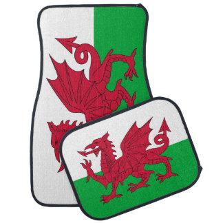 Set Automatten mit Flagge von Wales Automatte
