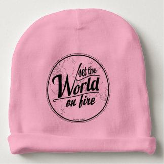 Set die Welt auf Feuer-Baby-Mädchen Babymütze