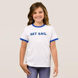 Set-Segel Ringer T-Shirt