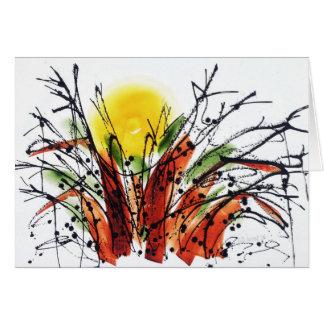 Settin im th Baobab-Baum Notecard Karte