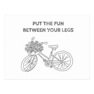Setzen Sie den Spaß zwischen Ihre Beine Postkarte