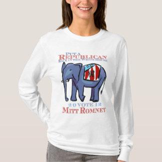 Setzen Sie einen Republikaner zurück in das Weiße T-Shirt