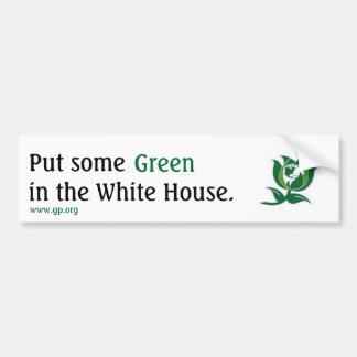 Setzen Sie etwas Grün in das Weiße Haus v2 ein Autoaufkleber