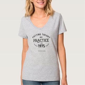 Setzen von Theorie in Hülsen-Shirt der Praxis 3/4 T-Shirt