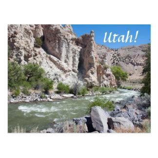 Sevier Fluss, Utah Postkarte