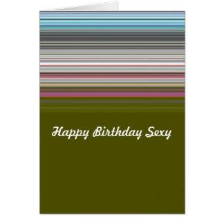 Sexy alles Gute zum Geburtstag striped Grußkarte