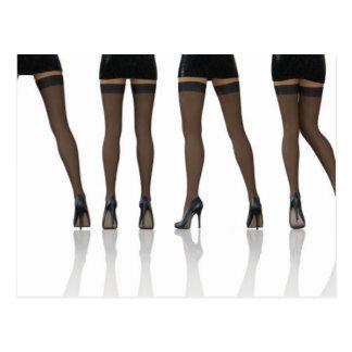 Sexy Beine mit Strümpfen als abstraktem Postkarte