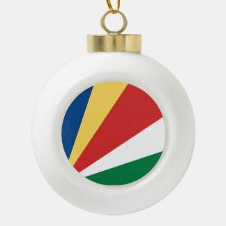 Seychellen-Flagge Keramik Kugel-Ornament