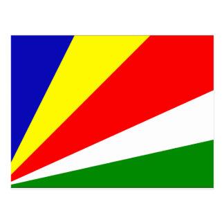 Seychellen-Flagge Postkarte