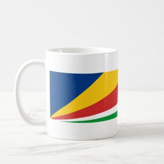 Seychellen-Landesflaggenationssymbol-Namentext Kaffeetasse