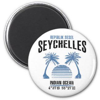 Seychellen Runder Magnet 5,7 Cm