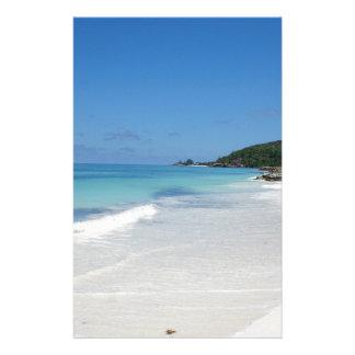 Seychellen-Strand Briefpapier