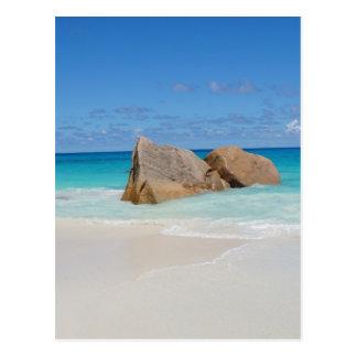 Seychellen-Strand Postkarte