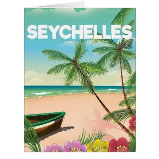 Seychellen-Strandreiseplakat Karte