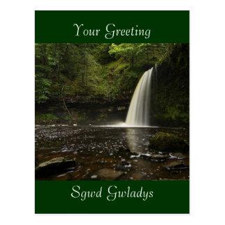 Sgwd Gwladys Wasserfall 1 Postkarte