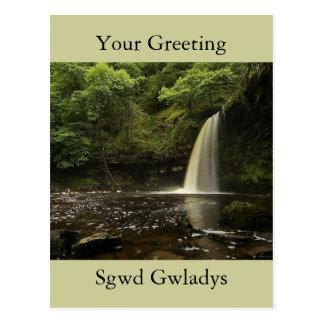 Sgwd Gwladys Wasserfall 2 Postkarte