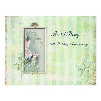 Shabby Chic-25. Hochzeits-Einladung Postkarte