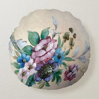 """Shabby Chic-""""Blumenstrauß des runden Kissens der Rundes Kissen"""