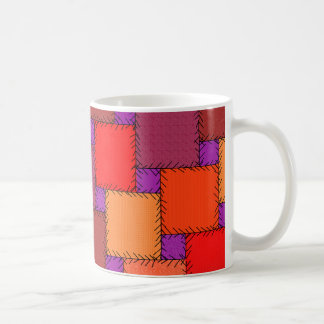 Shabby Chic-lila Patchwork-Schatten Kaffeetasse