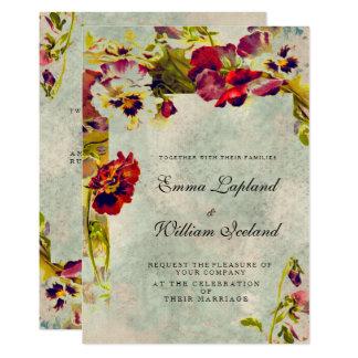 Shabby Chic-Vintage Rosen, die Einladung Wedding