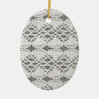 Shabby Chic-Vintage Spitze-Entwürfe Keramik Ornament