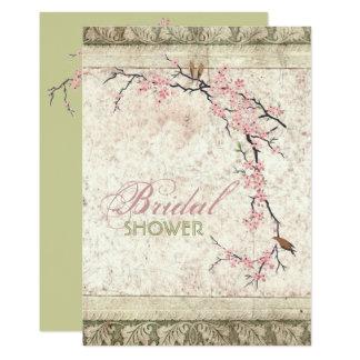 Shabby Chickirscheblüten-Land-Brautparty 12,7 X 17,8 Cm Einladungskarte