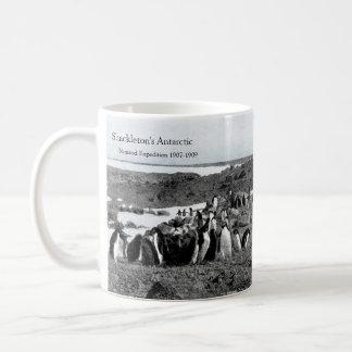 Shackletons Nimrod-Grammophon-Musik für Pinguine Kaffeetasse