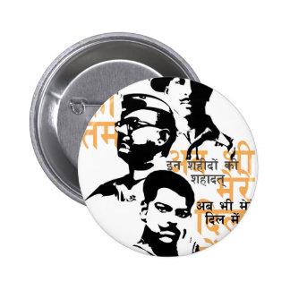 Shaheed die Inder-Märtyrer Runder Button 5,7 Cm