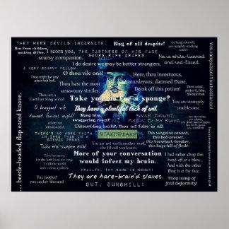 Shakespeare-Beleidigungszitate Poster