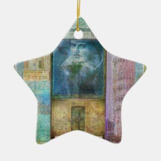 Shakespeare-Kunst fertigen mit Lieblingszitat Keramik Ornament