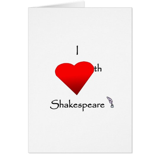 Shakespeare-Liebe Grußkarte