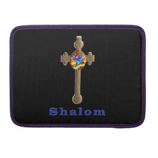 Shalom christliches Kreuz Sleeve Für MacBook Pro