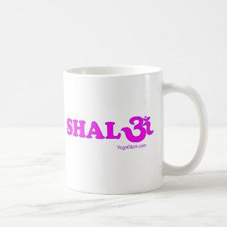 Shalom mit OM in Sanskrit Kaffeetasse