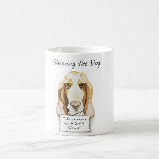 Shaming den Hund Basset Hound Tasse