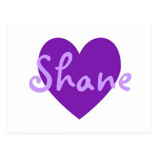 Shane in Lila Postkarte
