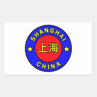 Shanghai-Chinaaufkleber Rechteckiger Aufkleber