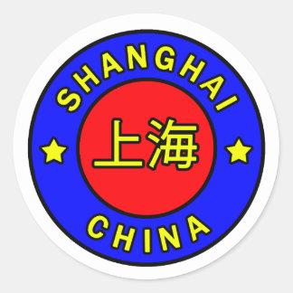 Shanghai-Chinaaufkleber Runder Aufkleber