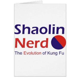 Shaolin Nerd Grußkarte