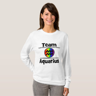 Sharnia Wassermann-lange Hülsen-Spitze T-Shirt