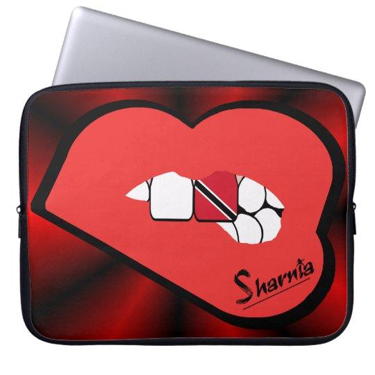 Sharnias Lippen Trinidad u. Tobago-Laptop-Hülse Laptopschutzhülle