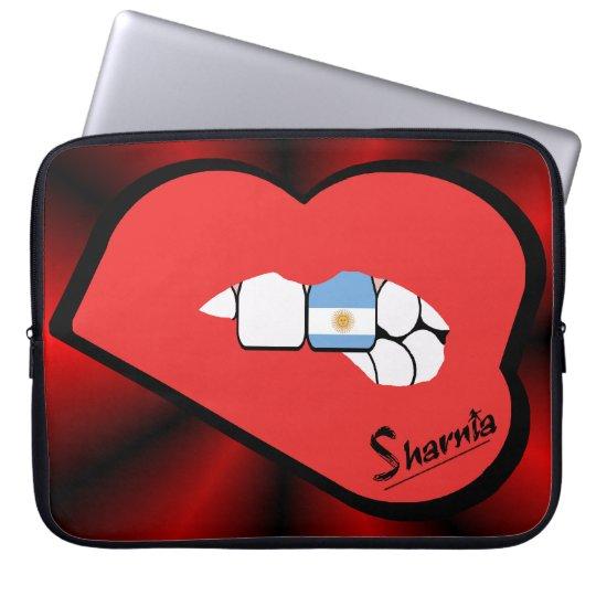 Sharnias Lippenargentinien-Laptop-Hülse (rote Laptopschutzhülle