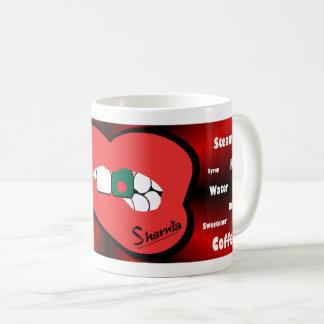 Sharnias Lippenbangladesch-Tasse (ROTE Lippe) Kaffeetasse
